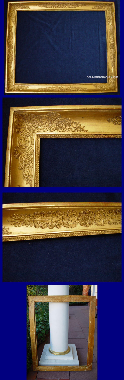 Antike Bilderrahmen, Barockrahmen mit Blattvergoldung.