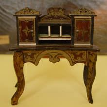 Antiker Damensekret�r um 1860, Antique Boulle furniture made circa 1860,