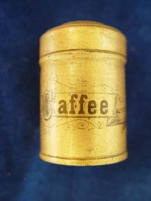 Sch�ne, antike Blechdose f�r einen Kaufladen, um 1900. Rare Antique coffee tin for a toy shop, made about 1900.