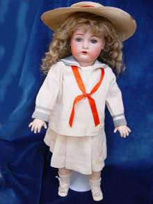 Antique bisque head doll, K (Stern) R SIMON & HALBIG 403 Germany.