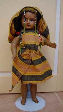 Antike Porzellankopfpuppe, um 1900. Antique bisque head doll,