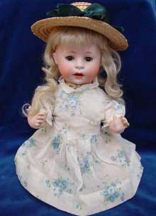 Antique Bisque head doll, rare Character doll, by Armand Marseille made about 1920.