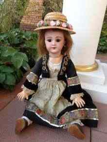Beautiful antique bisque head doll, about 1890.