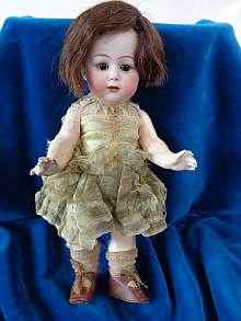 Antique bisque head doll, beautiful rare character doll, a lovely Heubach girl, made about 1912.