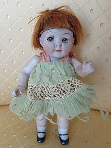 Adorable German antique Googly doll, dated about 1914. Rare mold number 217 16.