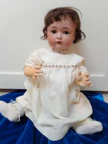Rare antique German character baby doll, K star R Simon & Halbig 118, dated about 1900.