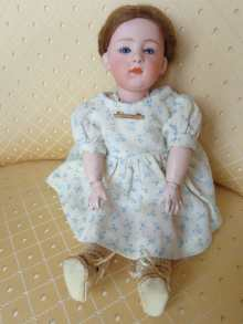 German antique character doll, beautiful girl made by Heubach,