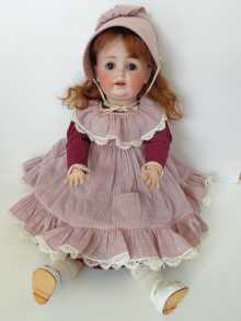 German antique character doll, made by Kestner, dated about 1910.