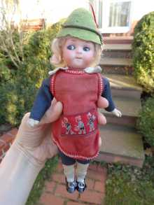 Antique German googly doll by Armand Marseille, dated about 1910.