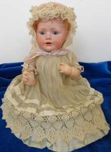 Antique German character doll, Hilda's sister JDK 247, made by Kestner, dated about 1910.