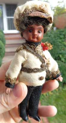 Antique black French Mignonette doll, dated about 1890.