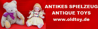 Kunsthandel, antikes Spielzeug, Antiques, old toys